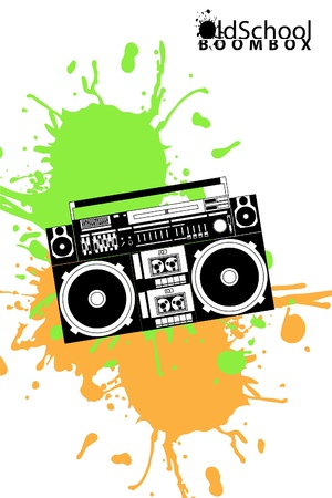 eighties: vector image of a classic boombox