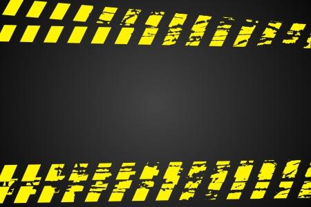 La policía de línea (no se cruzan) sobre fondo negro Ilustración de vector