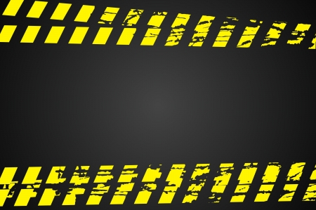 p�rim�tre: Ligne de police (ne pas traverser) sur fond noir Illustration