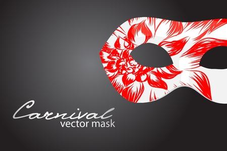 Carnival mask on dark background Vector