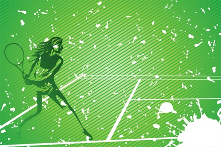 tennis racquet: tenis