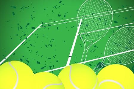 tennis racquet: Fondo de tenis  Vectores