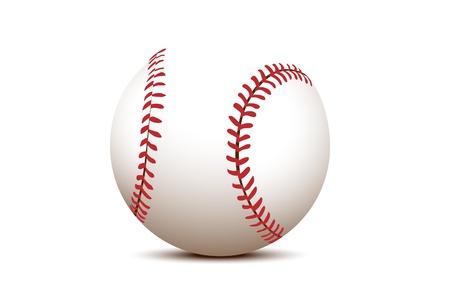 hardball: illustration of a Basball (ball on white background)