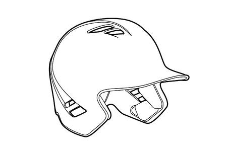 infield: illustration of a Basball (outline helmet for baseball)
