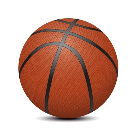 balon baloncesto: Pelota de baloncesto sobre fondo blanco (ilustración vectorial) Vectores