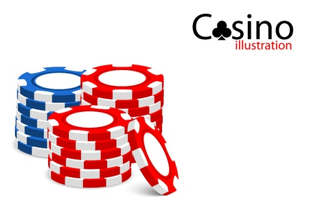 Casino illustration (some chips on white background) Stock Vector - 9806643