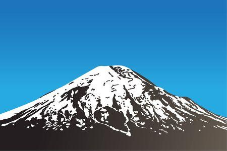 dormant: beautiful dormant volcano and clear sky (vector illustration)