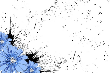 stamen: Beautiful bright colorful flowers (vector illustration)