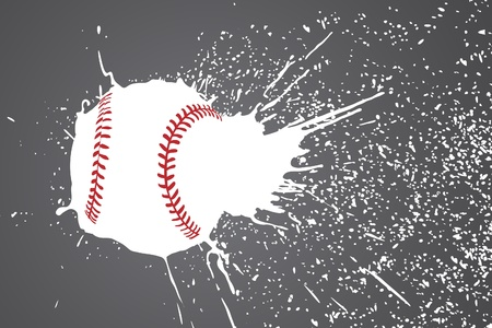 baseball game: illustration (baseball ball with white splashes) Illustration