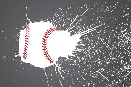 pelota de beisbol: Ilustración (pelota de béisbol con pinceladas blancas)