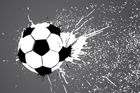 football ball on gray background (vector illustration) Vector