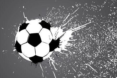 soccer goal: football ball on gray background (vector illustration) Illustration