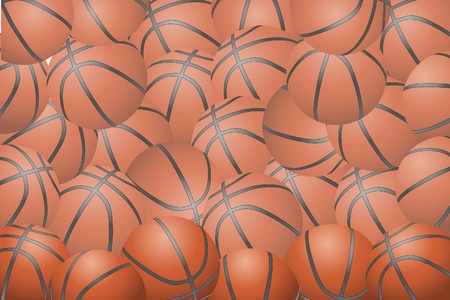 Basketball background (group of some balls) Vector