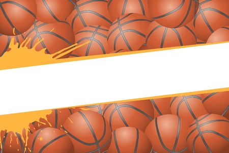 basketball game: Basketball background (group of some balls) Illustration