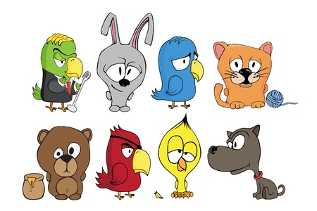 doggies: Vector illustration of funny cartoon character