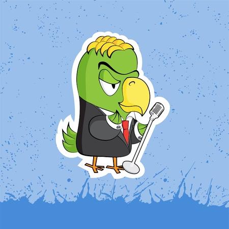 funny cartoon character Vector