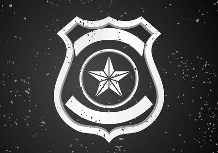sheriff badge: Security badge Illustration