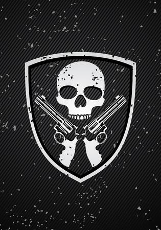 Skull badge Vector