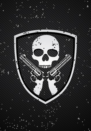 Skull badge Stock Vector - 10767400