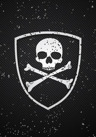 sheriff badge: Insignia del cr�neo