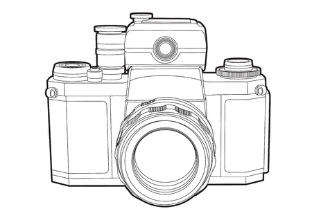 digital camera: Vector camera Illustration