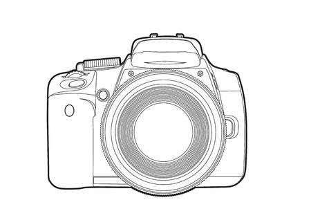 shutter aperture: Vector camera Illustration
