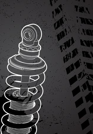 spirale: Stoßdämpfer Illustration