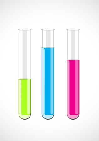 beakers: Vector test-tube Illustration