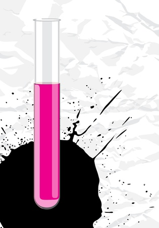 Vector test-tube Stock Vector - 10962436
