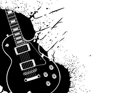 guitarra: Guitarra vector el�ctrico en el fondo blanco