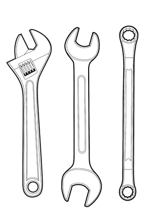 adjustable wrench: wrenches Illustration