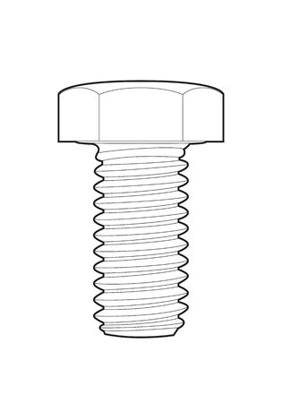 nut and bolt: outline Bolt