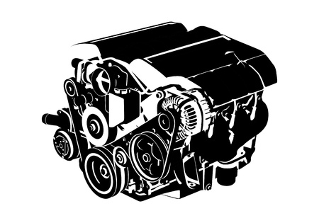engine oil: engine Illustration