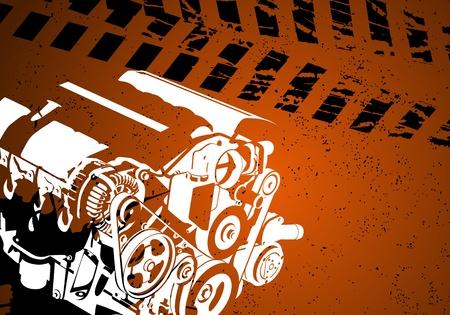 frontal: engine Illustration