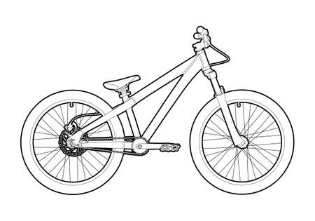 Outline bicycle Stock Vector - 12191373