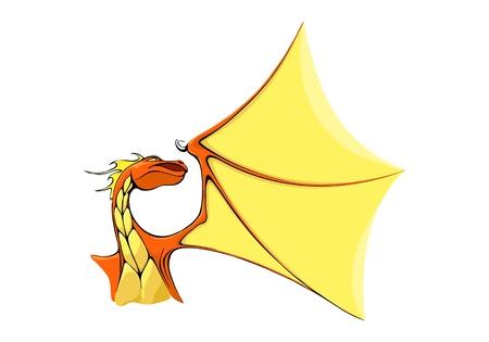 mosca caricatura: dragón