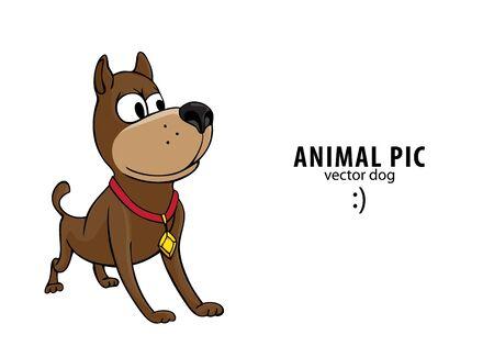 black wolf: cute dog Illustration
