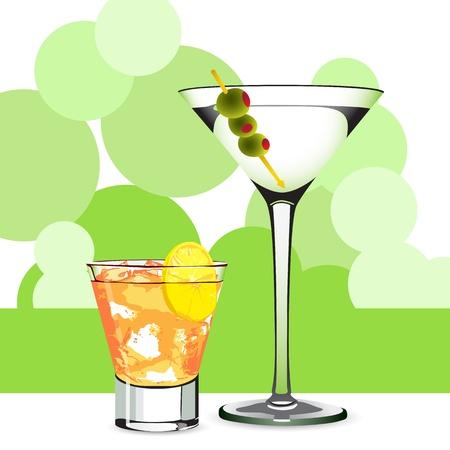 pimento: Martini and cocktail