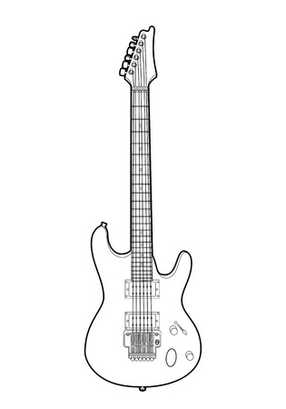 Electric guitar Stock Vector - 13835901