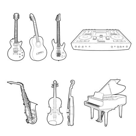 violin player: Musical instrument set