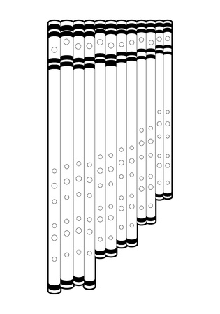 Outline panpipe Vector