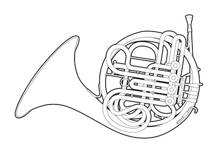 french horn: Outline French horn