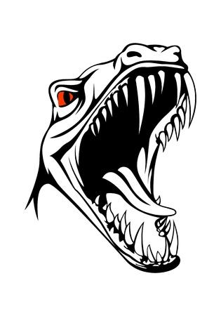 t rex: Tyrannosaurus head