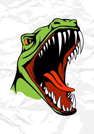 munch: Tyrannosaurus head