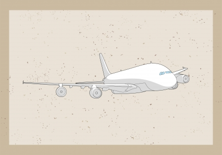 passenger aircraft: Airplane on gray