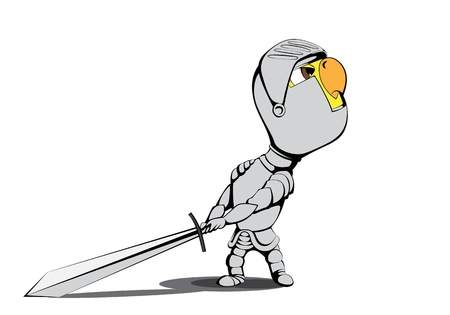 Chick knight Vector
