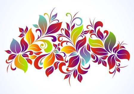 Bright floral background Illustration
