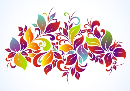 abstract floral: Bright floral background Illustration