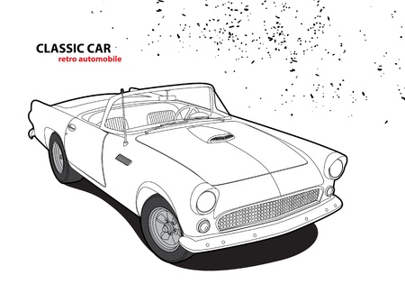 oldtimer: Classic car Illustration