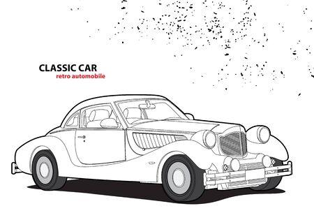 restored: Classic car Illustration